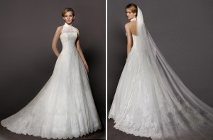 Halter wedding dress 2014