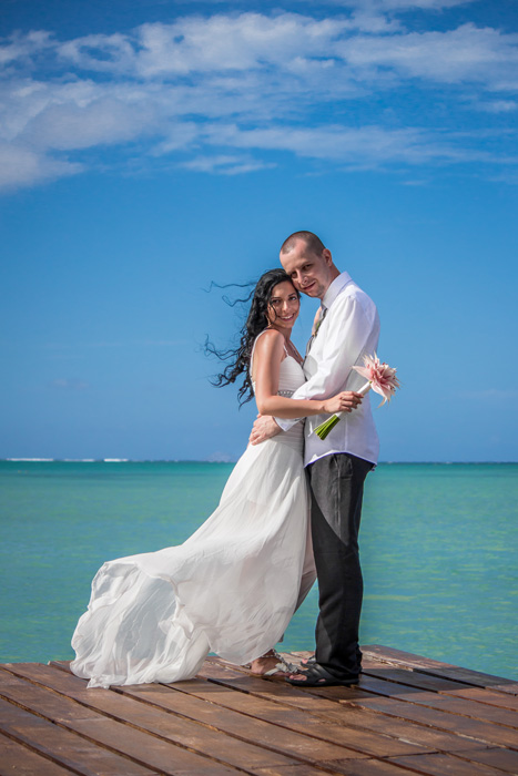 Wedding blue sky and Turquoise water