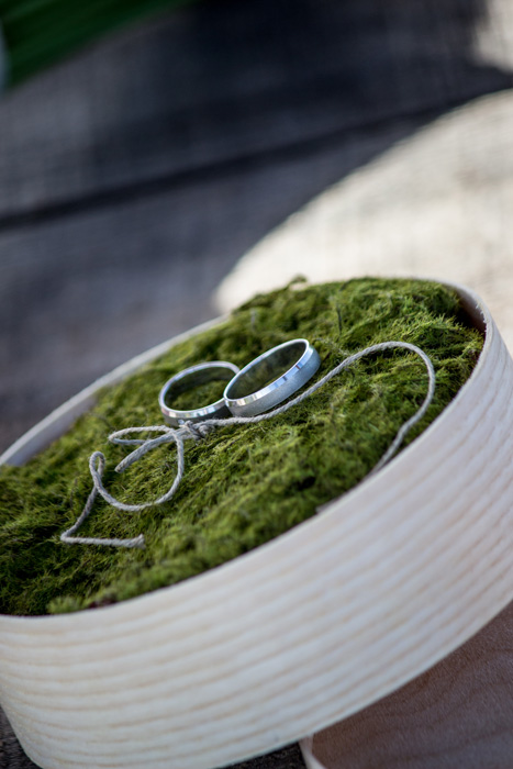 Wedding rings outdoor
