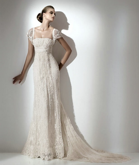 capped wedding dress 2014