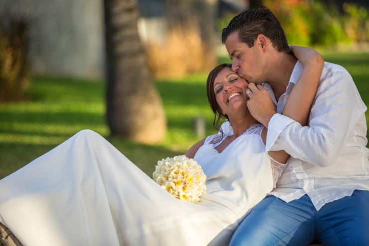 Wedding photo Trou aux biches hotel mauritius